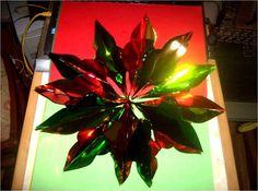 Manualidades navideñas estrella  colgante de papel metálico