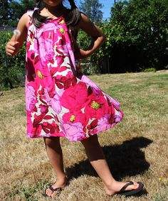 Dress from Linen Cotton Wool Kids in very different fabric