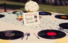 Rockabilly Wedding - Table set up