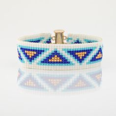 Semiramis  A stunning, one of a kind statement bracelet.Gorgeous 100% hand loom…