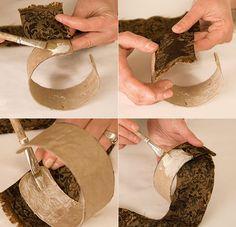 Pulseras de papel mache