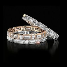 Bez Ambar Blaze and  Bez Ambar Blaze and Baguette Wedding Band -Explore the collection at Wedding Band Weekend!