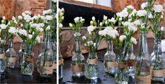 Fuksianpunaisia Häähaaveita: lokakuu 2013 Winter Parties, Wedding Decorations, Table Decorations, Happily Ever After, Wedding Table, Wedding Anniversary, Wedding Planning, Wedding Ideas, Glass Vase