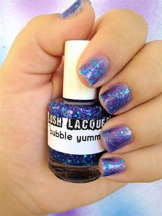 Bubble Yummy   CustomBlended Glitter Nail Polish / by lushlacquer, $8.75