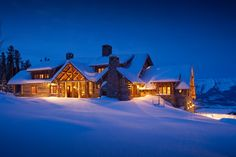 Moonlight Basin Ranch - Big Sky, Montana by Miller Architects Log Cabin Living, Mountain Living, Mountain Houses, Mountain Cabins, Moonlight Basin, Montana Homes, Montana Ranch, Big Sky Montana, Cabins And Cottages
