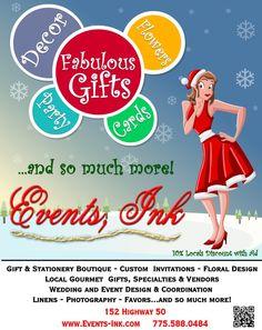 Holiday Ad for Shoppe - December 2012 Cynthia Ferris-Bennett 775.671.2164 or Cynthia@SierraChef.com