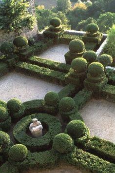 Garden of the Château d'Ansouis, France