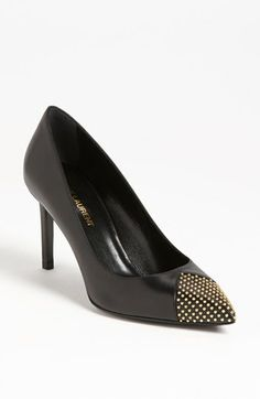 Saint Laurent Studded Toe Pump available at #Nordstrom