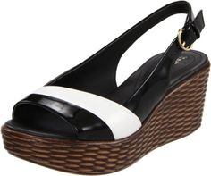Naturalizer Women's Ladell Sling Sandals give comfort a boost with N5 technology Show your sophisticated side in this platform wedge sandal. The synthetic patent upper, with an adjustable slingback, delivers stand-out style with a color blocked design, and the basketweave-wrapped wedge adds textural interest. Comfort comes from N5 technology, which combines a flexible insole, featherweight outsole ...