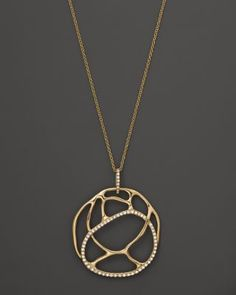 Diamond Circle Pendant in 14K Yellow Gold, .25 ct. t.w. | Bloomingdale's