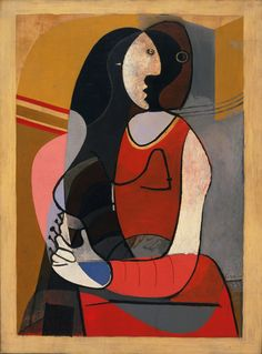 """ Pablo Picasso was born this day in 1881. [Pablo Picasso. Seated Woman. Paris, 1927] """