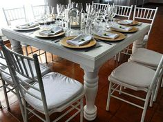 #mesa #vintage #inglesa #copas #sillas #tifanny #bodaperfecta