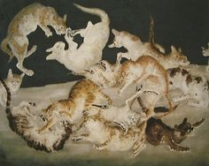 Leonard Tsuguharu Foujita was a painter, print-maker and a well-known lover of cats.His works skillfully mix traditional Japanese styles with European Modernis Museum Of Modern Art, Art Museum, Traditional Japanese Art, Art Japonais, Japanese Artists, Paris, Cat Art, Painting & Drawing, Printmaking