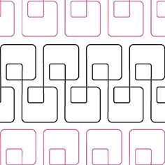 Simply Squared quilting motif - Would also look awesome if the pink rows intersected with the black rows.