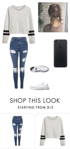 """Casual Outfit"" by samanthawoollard on Polyvore featuring Topshop and Converse"