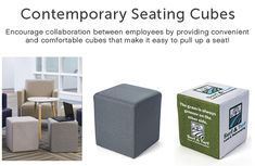 Contemporary Seating Cubes Increase Productivity, Business Furniture, Cubes, Relax, Contemporary, Room, Bedroom, Office Furniture, Rooms