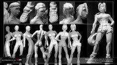 Modelado arcilla protagonistas - clay modeling - GAELCO
