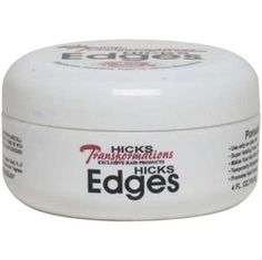 Hick's Edge Control is great! Firm but not stiff hold, no flaking. Better than ORS Edge Control. Update- Works better on dry hair than wet.