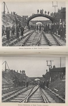 Bridge destroyed at Eden Valley Junction (Cumbria), 1908. IET Archives, journal of the Society of Engineers.