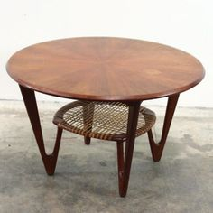 Kurt Østervig; Teak and Cane Coffee Table, c1960.