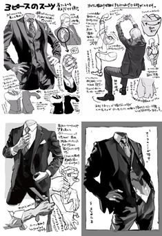 Drawing suits, manga style!