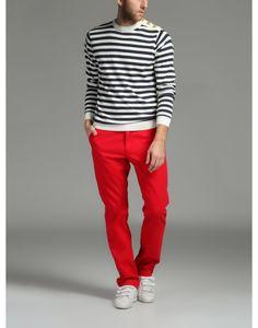 Κόκκινο παντελόνι, 100% βαμβάκι.