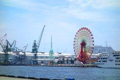 Ferris wheel, Kobe harbor, Japan