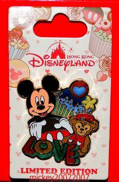 Hong Kong Disney Pin Valentine's Day 2014 Mickey Duffy Bear LE500 HKDL | eBay
