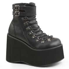 Demonia KERA-21 Black Ankle Boots