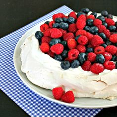Pavlova with Berries (recipe) - Life and Kitchen
