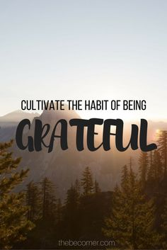 In this post I explain why we should all be grateful for what we have http://thebecomer.com/be-grateful/