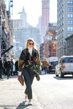 Below-Freezing NYC Street Style That's Still Fire #refinery29  http://www.refinery29.com/2015/02/82279/new-york-fashion-week-2015-street-style-pictures#slide-38  When in doubt, belt it.