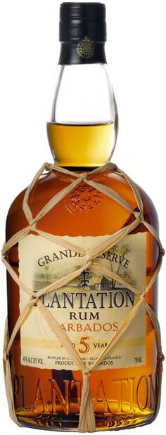 http://AMERICANcocktails.com - Plantation Grande Reserve 5 Years Old Barbados Rum Review #Plantation #Rum