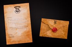 How to tea stain a Hogwarts letter and envelope (with printable seal and crest)