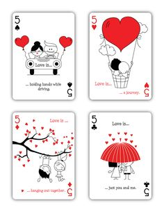 """Natalia Silva is raising funds for """"Love is."""" Playing Cards (Canceled) on Kickstarter!"""" is a beautiful deck of playing cards inspired by Love. Love Doodles, Love Cards, Diy Cards, Stick Figure Drawing, Custom Playing Cards, Cute Love Cartoons, Anniversary Cards, Cute Drawings, Diy Gifts"""