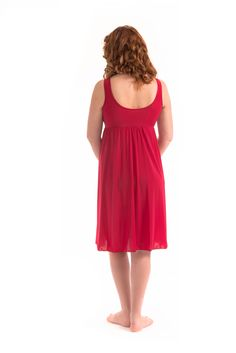 A flattering fit and comfort too. Check out the back of our Aphrodite waltz length gown.