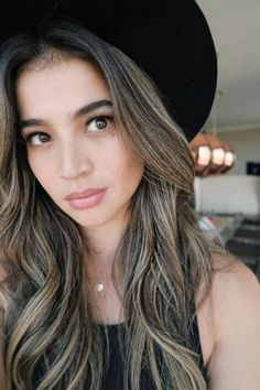 Anne Curtis balayage in ash brown/blonde