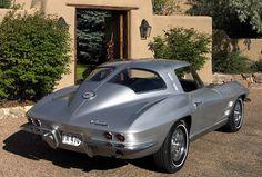 1963 Chevrolet Corvette Coupe Split Window Sebring Silver For Sale