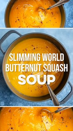 This delicious Butternut Squash Soup is super-easy to make, vegan, gluten-free and Syn Free on Slimming World. Choose your favourite soup making method: Stovetop, Slow Cooker, Instant Pot and Soup Maker instructions included.