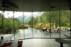 View from the Juvet Landscape Hotel in Norway, (featured in the movie 'Ex Machina' - Courtesy of A24.