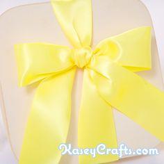 Lemon Yellow Ribbon, Satin, Double Faced, 1 1/2″ (38mm)