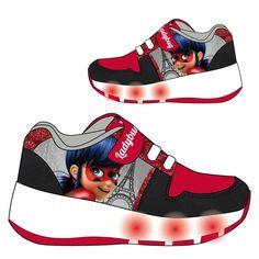 """Zapatillas Media Bota """"Ladybug"""" con Ruedas y luces"""
