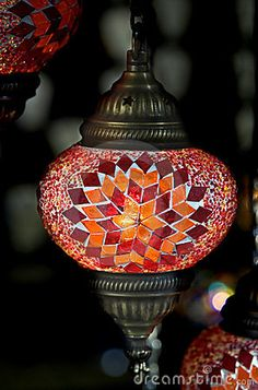 Turkish lamp 1 by Mikhail Blajenov, via Dreamstime Turkish Lights, Turkish Lamps, Moroccan Design, Moroccan Decor, Mirror Mosaic, Mosaic Glass, Lampe Decoration, Bright Homes, Room Lamp