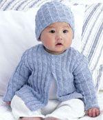 Panda cardigan & hat - Free Knitting Patterns