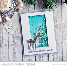 Handmade card from Raluca Vezeteu featuring Deer Friends stamp set and Die-namics, Inside & Out Stitched Rectangle STAX and Stitched Snow Drifts Die-namics Winter Cards, Fall Cards, Holiday Cards, Christmas Cards, All Things Christmas, Christmas Themes, Snowman Cards, Comfort And Joy, Sympathy Cards