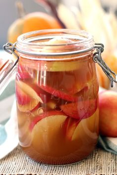 Warm cinnamon, fresh ginger and sweet, juicy apples are fermented for two days to make Spiced Probiotic Apples. Great as a snack or added to smoothies.