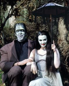 My favorite TV couple, Herman and Lily Munster