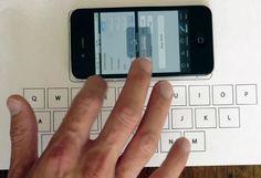 Estudante usa sensor do iPhone para criar teclado virtual invisível