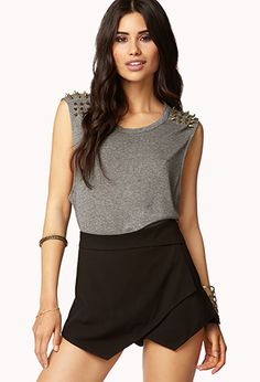 Spiked Muscle Tee   FOREVER21 - 2057620967