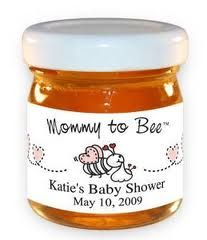 How fitting! Has my name on it and honey is my favourite condiment!!! baby shower favor!